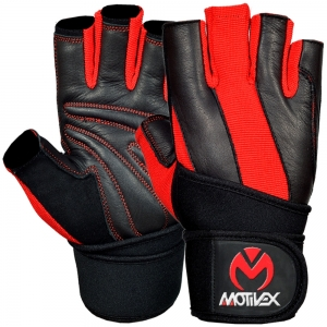 Weight Lifting Gloves Black Red-WLG-2621-BR