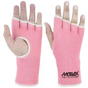 Inner Gloves Pink Elasticated for Women-IG-031-PNK